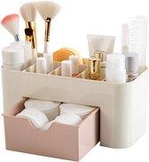 Make up Organizer - Roze  - 6 Vakken - Lade - Opbergdoos - Badkamer - Cosmetica - Cosmetische Organisator - Bureau Opslag Bakje