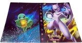 Pokemon Kaarten Verzamel Map - Voor 240 kaarten - Mewto  & Squirtle