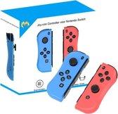 Wireless Joy-Con Controller met Polsbandjes voor de Nintendo Switch - Verbeterde Accuduur - Blauw/Rood