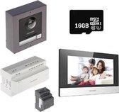 Hikvision DS-KIS702 Complete 2-Draads Video Intercom Set