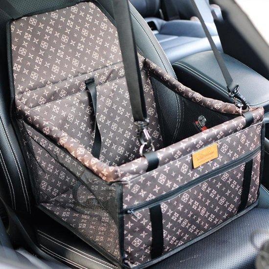 Premium Autostoel hond Luxe Design- Inclusief gratis E-Book - Opvouwbare Hondenmand auto - Autobench voor hond - Hondenstoel auto
