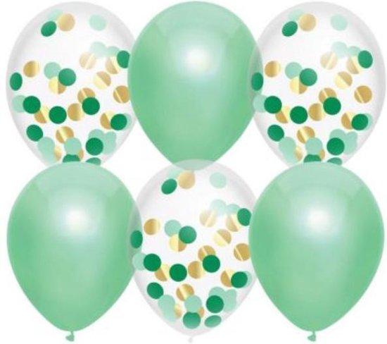 Ballonnen mix Lovely Mint 6 stuks