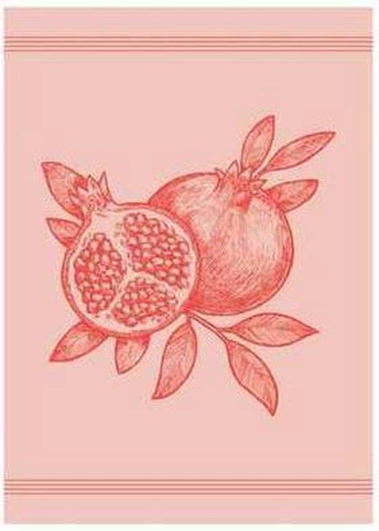 Clarysse Theedoeken Big Pomegranate Rood 50x70cm 6 stuks