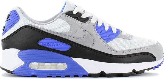 Nike Air Max 90 - Heren Sneakers Casual Sport Schoenen Wit-Grijs-Blauw CD0881-102 - Maat EU 40.5 US 7.5
