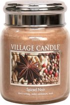 Village Candle Medium Jar Geurkaars - Spiced Noir