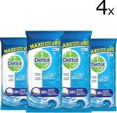 Dettol Power & Fresh - Schoonmaakdoekjes - Oceaanfris - 4 x 80 doekjes