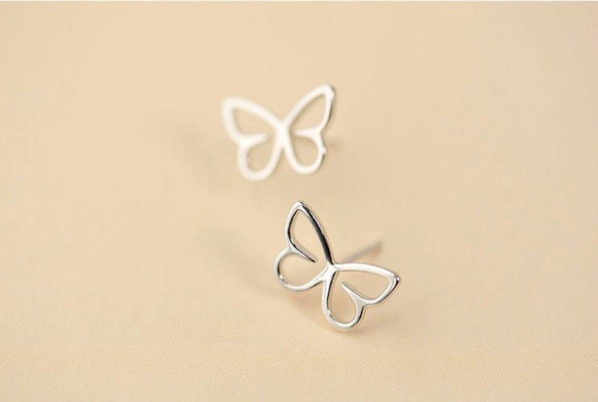 Oorbellen meisje - echt zilver - kind - vlinder