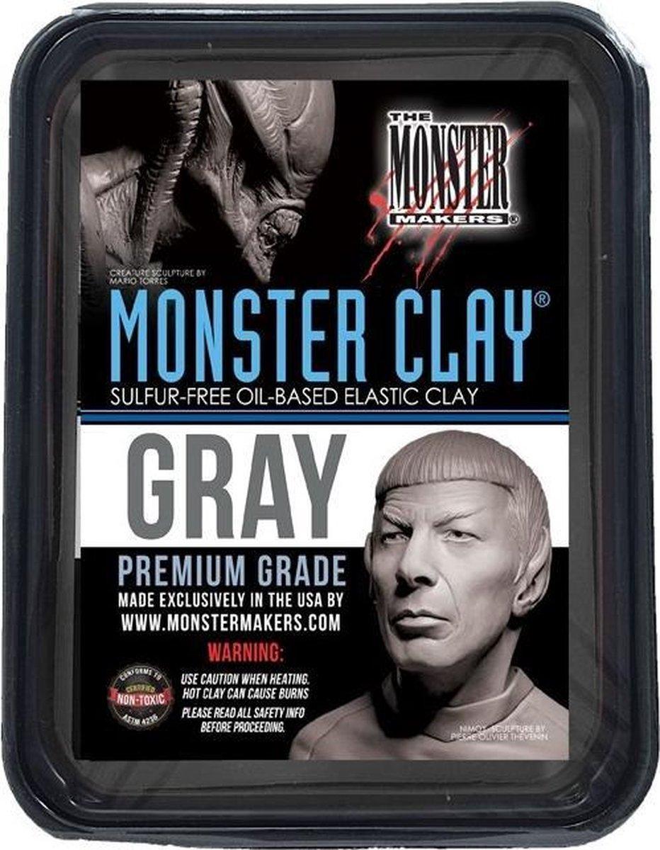 Monster Clay Gray - Gray (grijs) Medium 4.5 lbs / 2.05 kg.