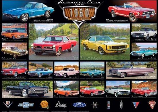 Puzzel 1000 stukjes-American Cars of the 1960's