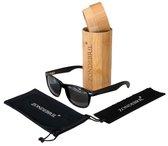 Zondebril Wood zonnebril UV400 polarized - Handgemaakt ebbenhout | Tijdelijke Superkorting!