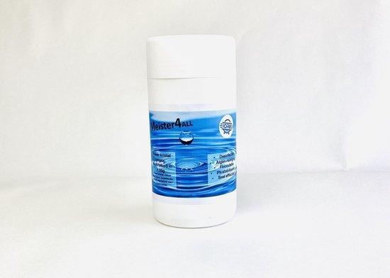 Meister4all Power 20 gram kristal chloor Mini Flacon Desinfectie- en Anti-algmiddel voor Zwembaden - 1 kg (Chloor tabletten 90% actief chloor) Chloortabletten 20 gram tabletten zwembad chloor - zwembadonderhoud zwembadreiniging Algen-stop