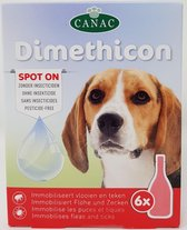 Canac anti vlooiendruppels met Dimethicon - 6 Pipetten