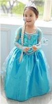 Prinses Frozen | Jurkje | Verkleedpak | Kids | Meisjes | Princess Jurk | Kostuum | Frozen Elsa  Film | Maat 122 | 5 - 7 Jaar