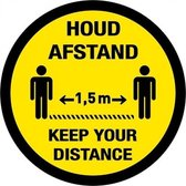 Tweetalig - rond - 200 mm - Keep your distance - h