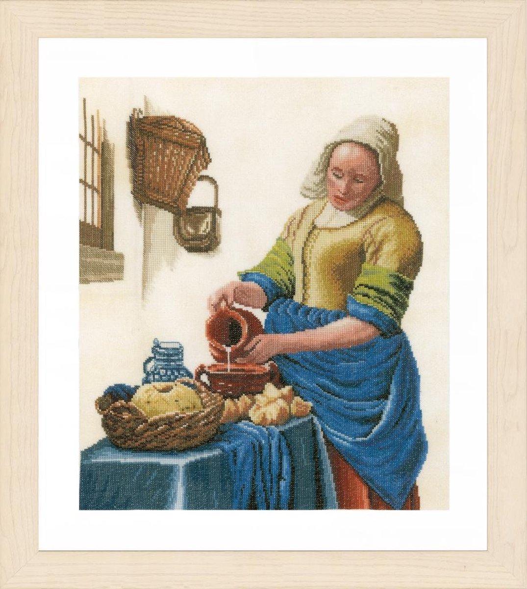 Melkmeisje van Vermeer borduren (pakket)