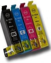 Huismerk Epson 16XL  Multipack van 4 XXL cartridges voor Epson Workforce 2010W, 2510WF, 2520NF, 2530WF, 2540WF, 2630WF, 2650WF, 2660WF, 2750DWF, 2760DWF