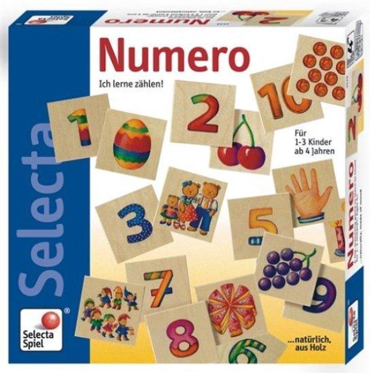 Houten spel Numero: hoeveel figuurtjes tel je?