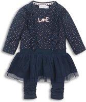 Dirkje - 2 pce Babysuit dress - Navy - Vrouwen - Maat 80