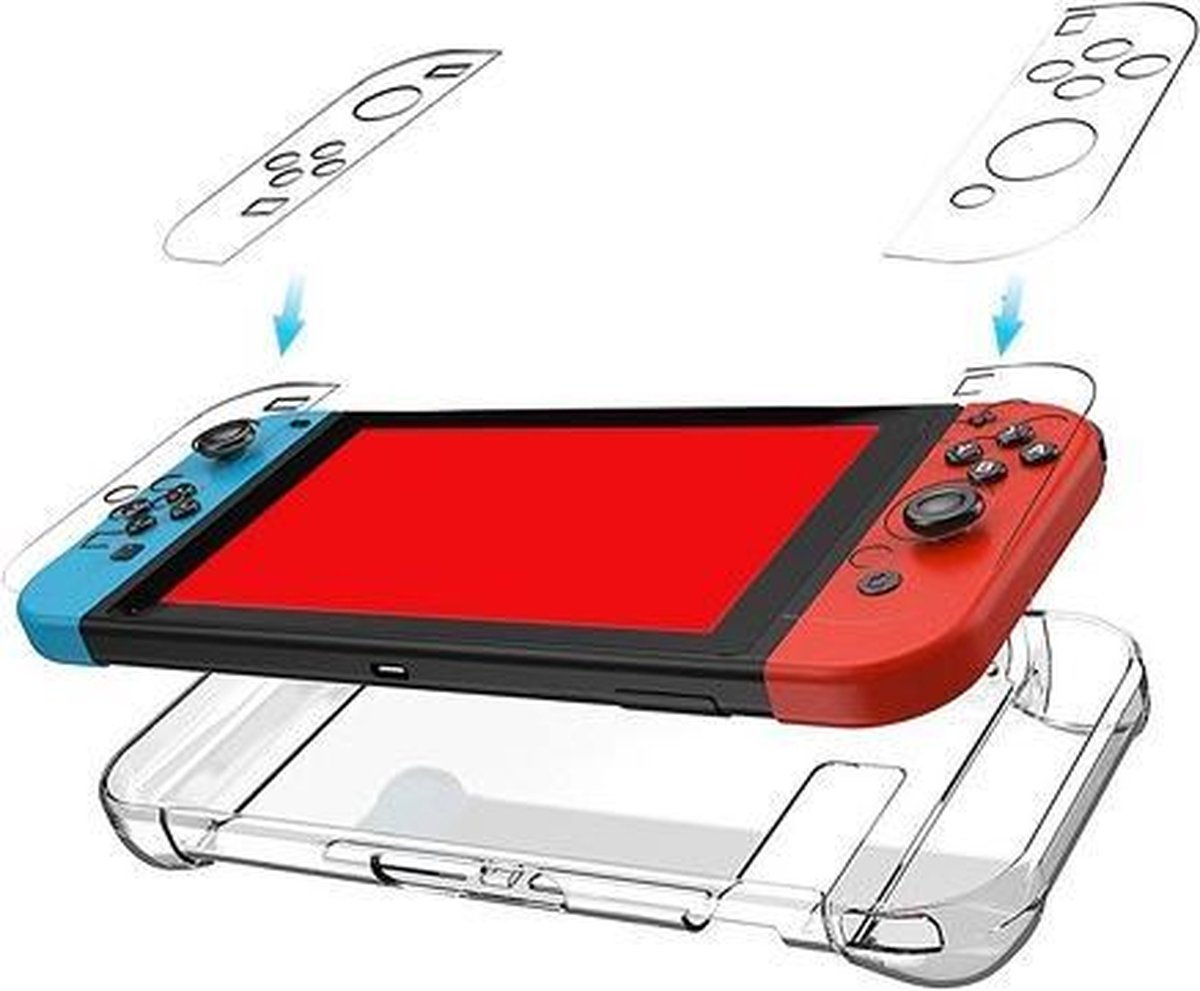 Nintendo Switch behuizing transparant beschermhoes case