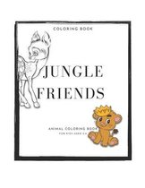 Jungle friends: Animal coloring book