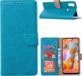 Samsung Galaxy A11 - Bookcase Turquoise - portemonee hoesje