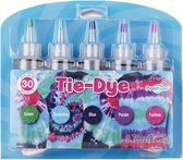 Tie Dye Kit Verf Set Textielverf 5 Kleuren 120ml - T Shirt Tie Dye Set Incl Touw & Handschoenen – Tie Dye Paint - Kindvriendelijk - Hoge Kwaliteit - H4Y®