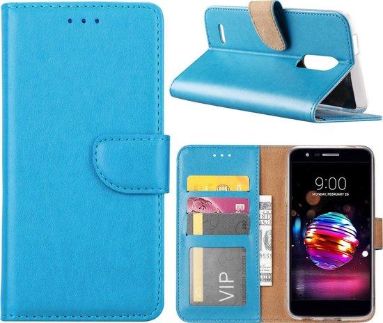 LG K10 2018 - Bookcase Turquoise - portemonee hoesje