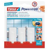 Tesa Powerstrips Haken Small - Wit - 3 Stuks