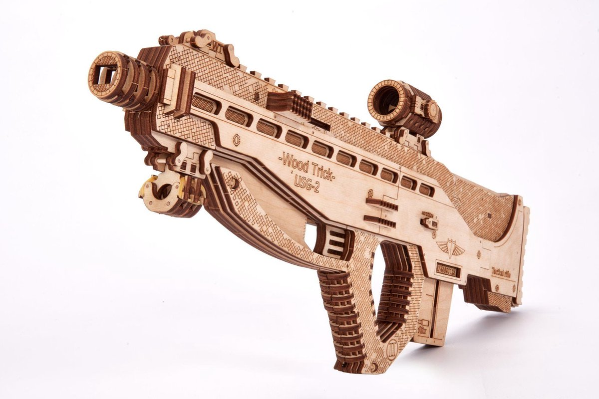 Wood Trick Aanvalsgeweer USG-2 - Houten Modelbouw