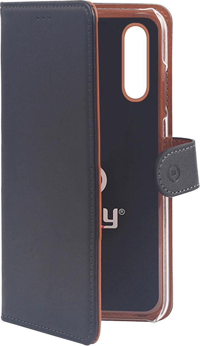 Afbeelding van product Celly - Samsung Galaxy A30 - Wally Bookcase Black - Openklap Hoesje Samsung Galaxy A30 - Samsung Case Black
