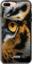 iPhone 8 Plus Hoesje TPU Case - Tiger #ffffff