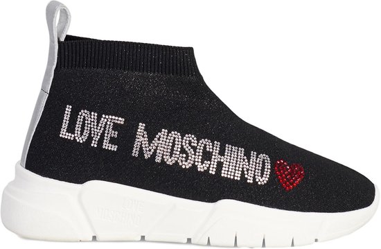 Love Moschino Sock Runner Low Glitter Black