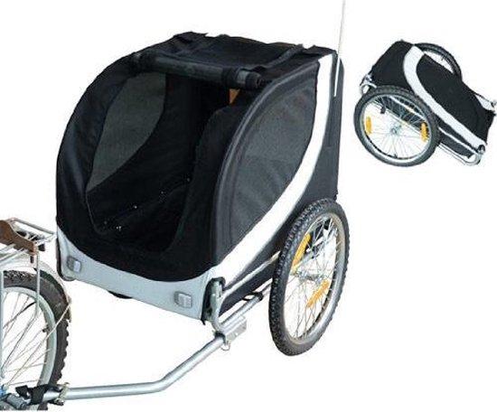 PawHut Hondentrailer fietskar universeel wit / zwart