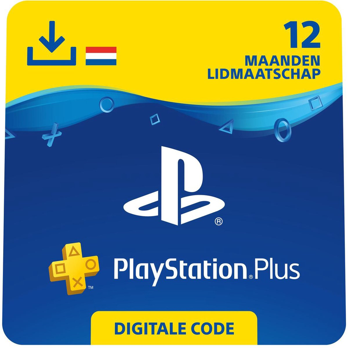 Sony Playstation Plus: 12 Maanden Lidmaatschap - PSN PlayStation Network - NL