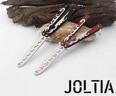 JOLTIA - Vlindermes Trainer - Balisong Trainer - Butterfly Knife - Vlinder Mes  - Veilig Oefenen met Vlindermes - Karambit - Vlinder Trainer - Zakmes - Roestvrij staal - CSGO mes - Gebalanceerd - Schorpioen - Zwart