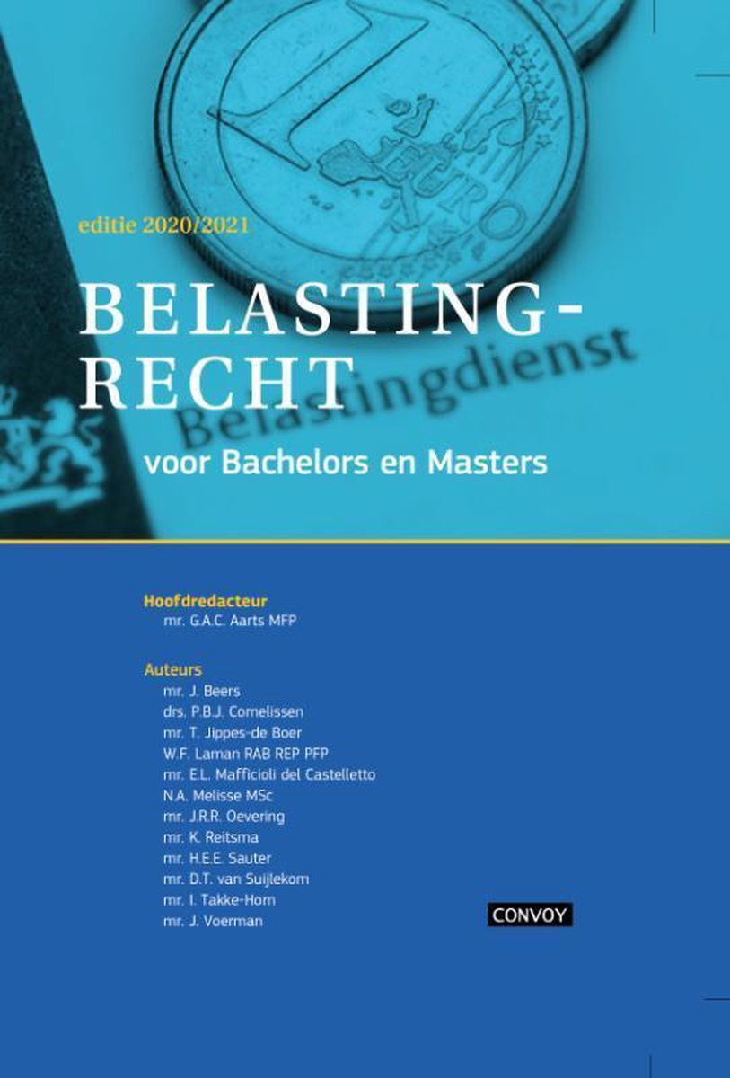 Belastingrecht Bachelors Masters 2020-2021 Opgaveboek