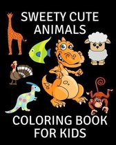 Sweety Cute Animals Coloring Book for Kids
