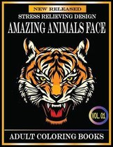 Amazing Animals Face Adult Coloring Books