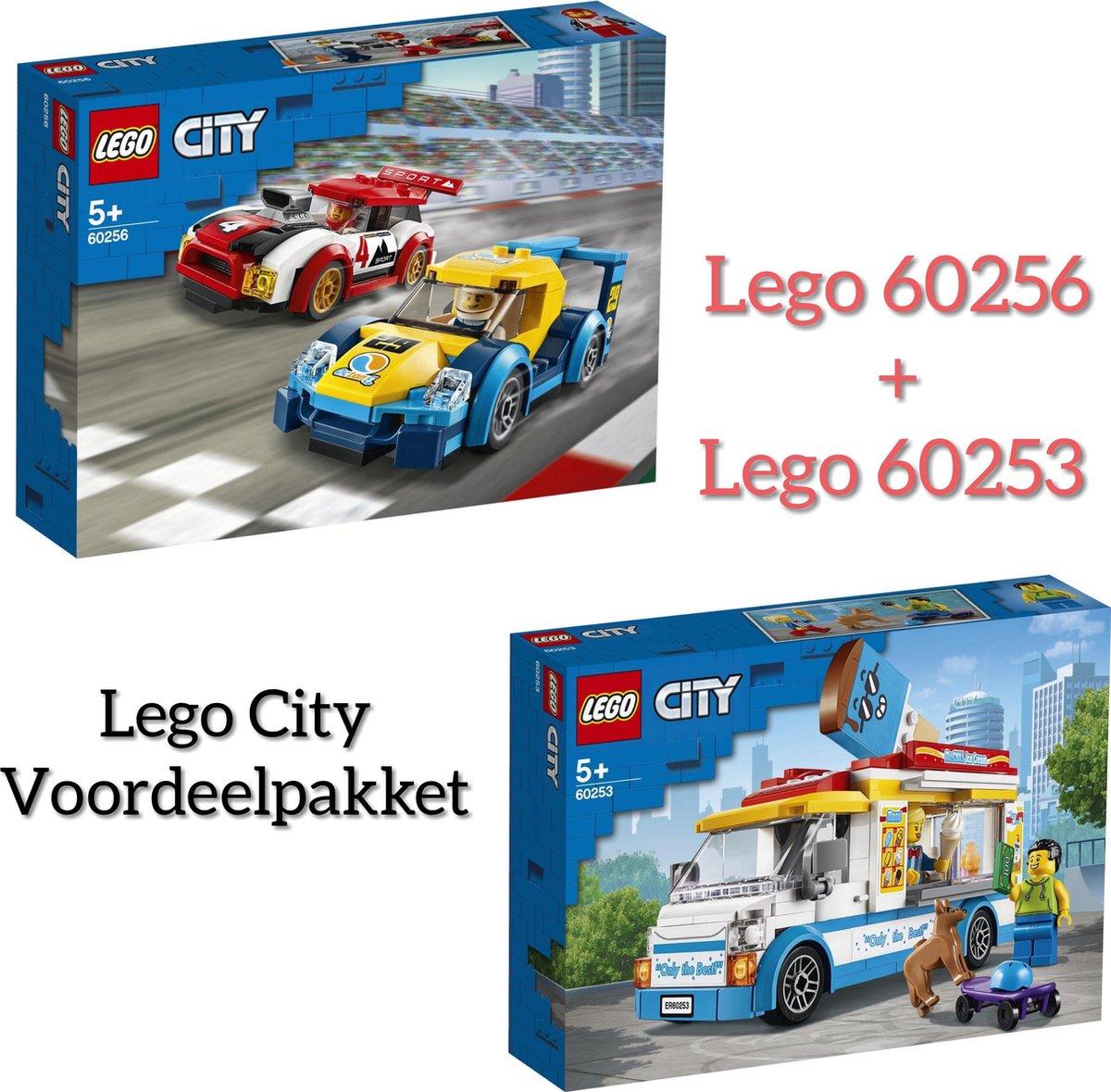 LEGO PAKKET LEGO CITY / LEGO City IJswagen 60253 + LEGO City Racewagens - 60256