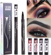 LULAA Pen - Microblade wenkbrauw - DONKERBRUIN - watervaste wenkbrauwpen - Eyebrow Tattoo Pen - wenkbrauw kleuren