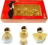 Les Parfums de France , Lovely French (3 Eau de parfum miniaturen)