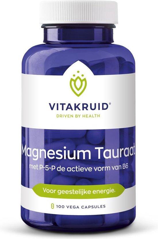 Vitakruid Magnesium Tauraat - met p-5-p de actieve vorm van B6 - 100 vegicaps