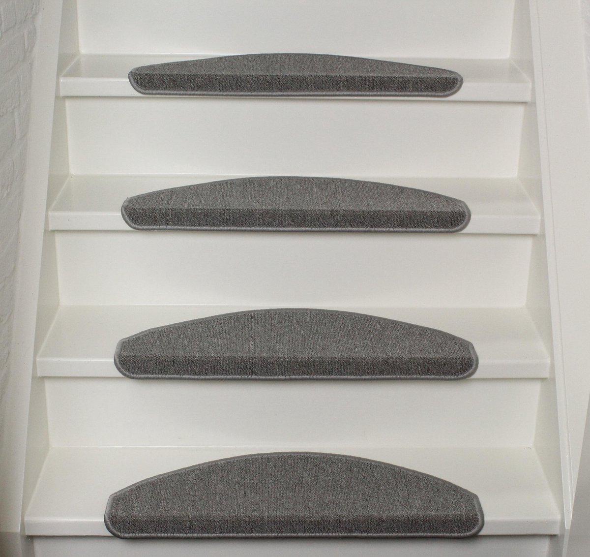 Trapmatten 13x Lima licht-grijs 56x17x3,5cm