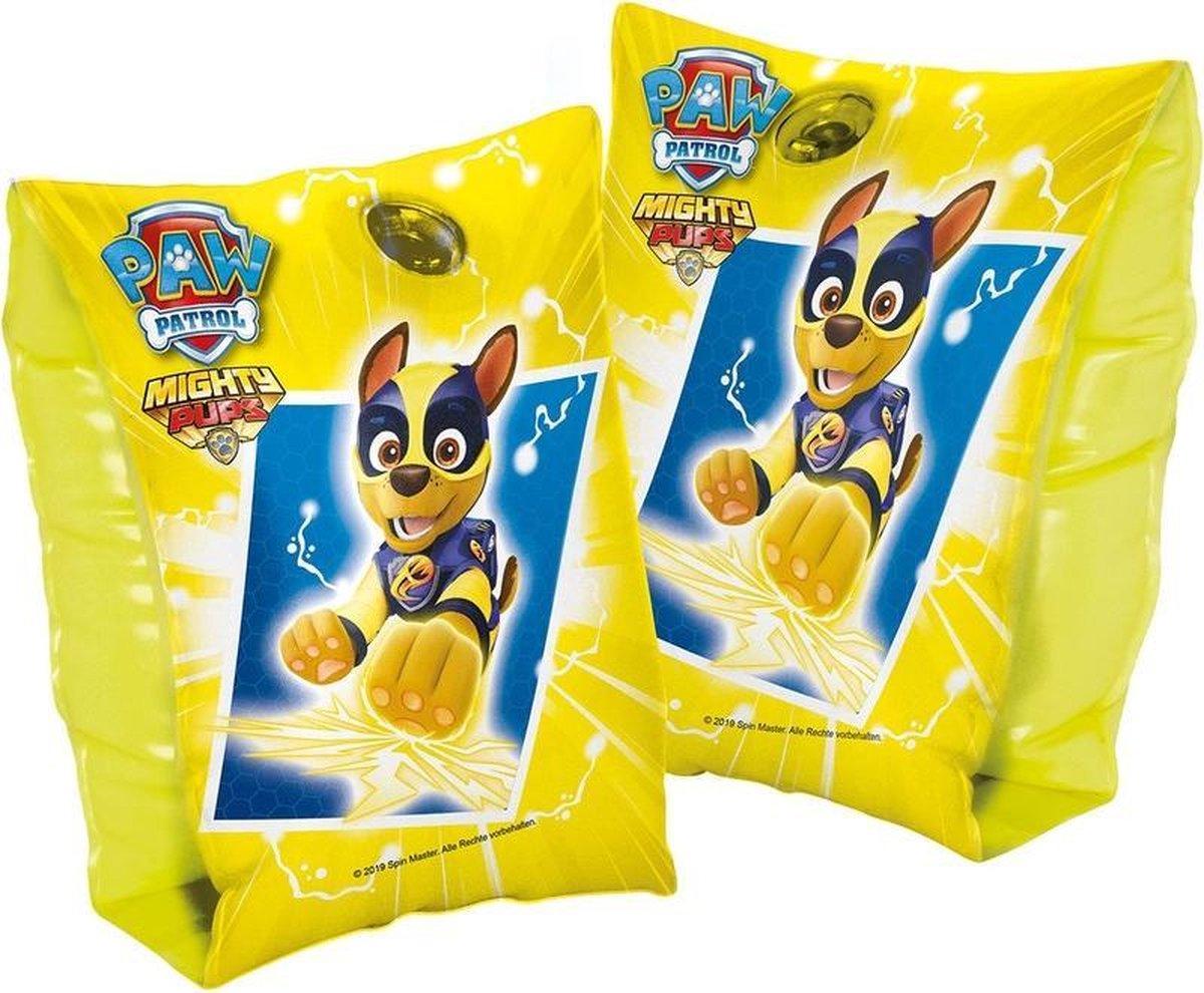 PAW Patrol Chase opblaasbare zwembandjes 1-6 jaar/11-30 kg kinderen - Maat 0 - Zwemhulp opblaas gele zwemmouwtjes/zwemvleugeltjes - Veilig zwemmen