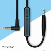 TIKKENS Audio Kabel - 2.5mm Jack naar 3.5mm Jack - Zwart - 1.35m - Aux - Microfoon - Bose Quietcomfort 25/35 - On-ear Koptelefoon - Verleng Snoer - Apple