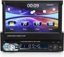 Autoradio met automatisch klapscherm - Bluetooth - USB - Radio - Mirror Link - 7 inch - INCL NAVIGATIE SYSTEEM EU 2020 kaart - 1 din
