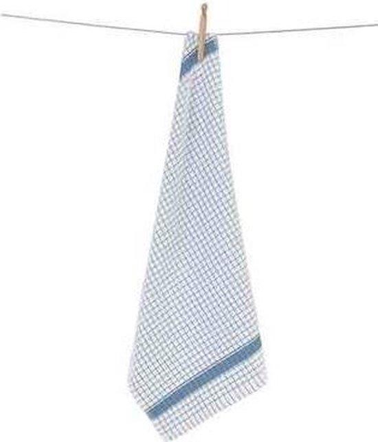 Clarysse Keukendoek Multifunctional Wit/Blauw 50x70cm 6 stuks