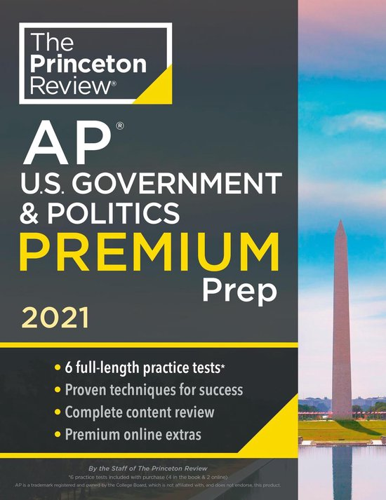 Princeton Review AP U.S. Government and Politics Premium Prep, 2021