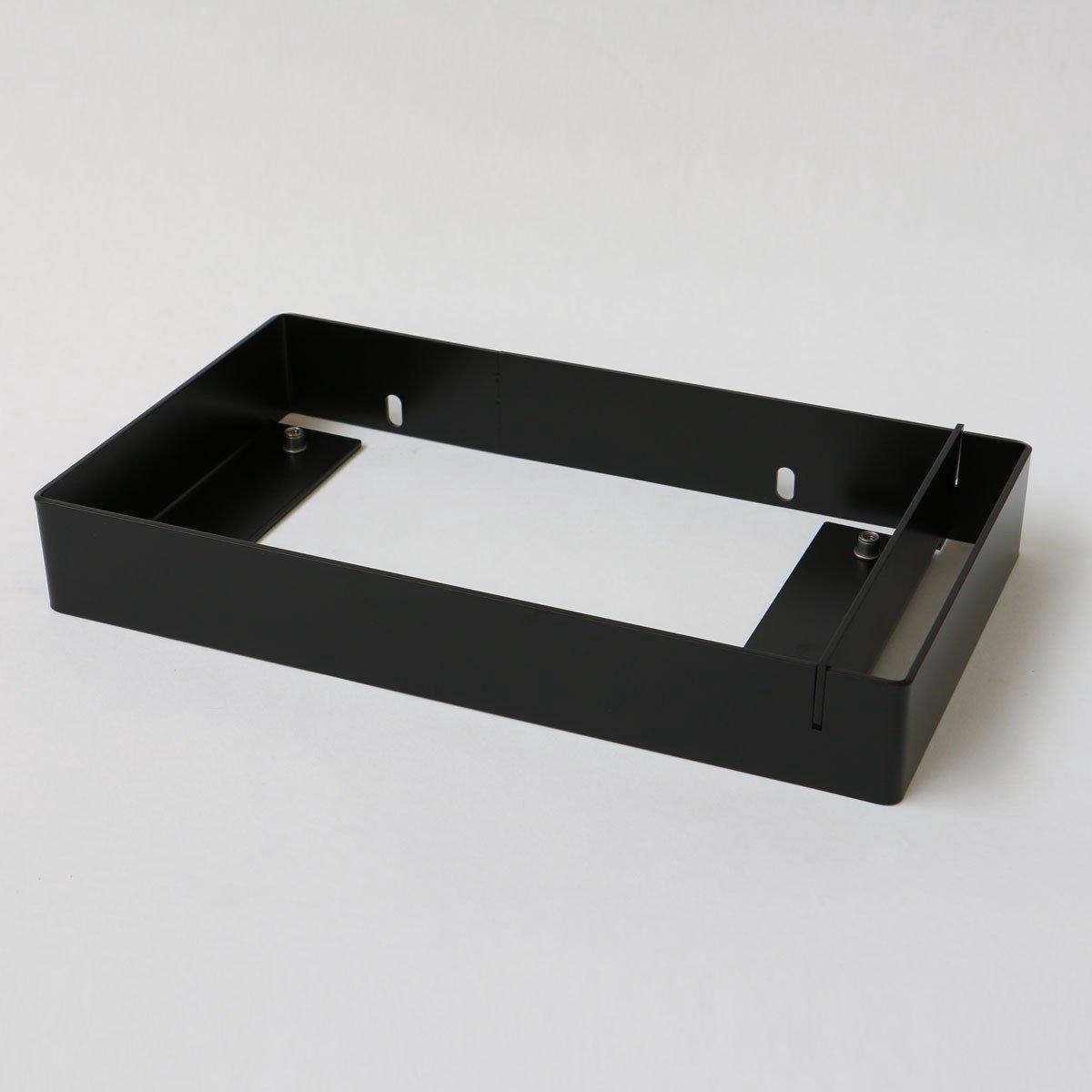 INK Jazz XS fonteinframe staal, handdoekhouder rechts, 360x50x200 mm, mat zwart