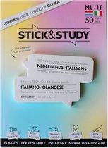 Stick and Study – Italiaans leren met sticky notes! - 50 vel - NEDERLANDS / ITALIAANS - Technische editie -